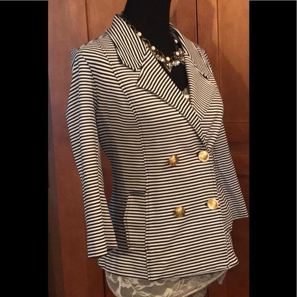 d004a0db98b5 CAbi Jackets & Coats | Adorable Blackandwhite Striped Jacket | Poshmark